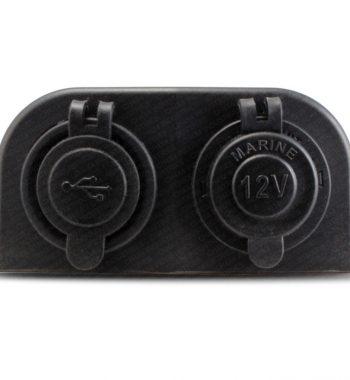 CH4x4 12v Power & Dual USB Socket - External Mount