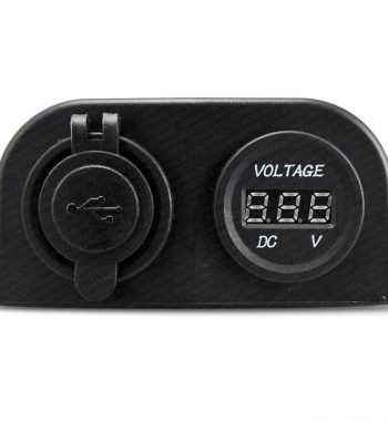 CH4x4 12v Dual USB Socket with Voltmeter - External Mount