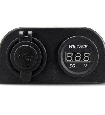 CH4x4 12v Dual USB Socket with Voltmeter - External Mount