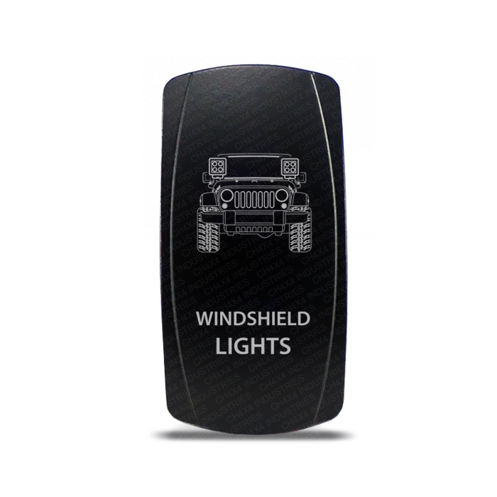 CH4x4 Rocker Switch Jeep Wrangler JK Windshield Lights Symbol