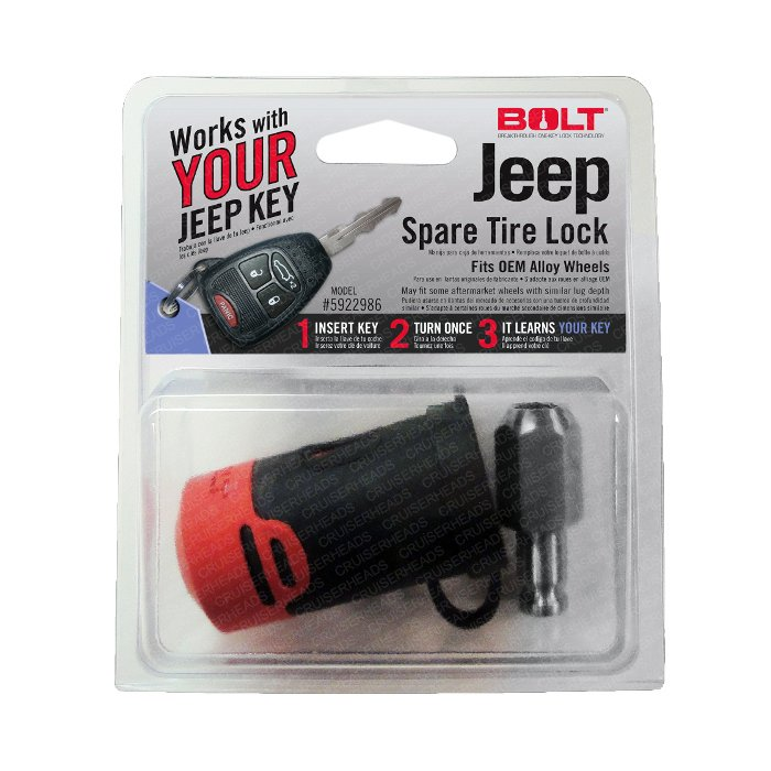 Bolt Jeep Wrangler Spare Tire Lock