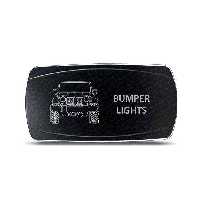 CH4x4 Rocker Switch Jeep Wrangler JK Bumper Lights Symbol - Horizontal