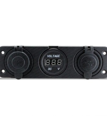 CH4x4 12v Power, Voltmeter & Dual USB Socket - Flush Mount