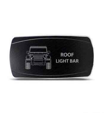 CH4x4 Rocker Switch Jeep Wrangler JK Roof Light Bar Symbol - Horizontal