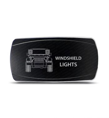 CH4x4 Rocker Switch Jeep Wrangler JK Windshield Lights Symbol - Horizontal