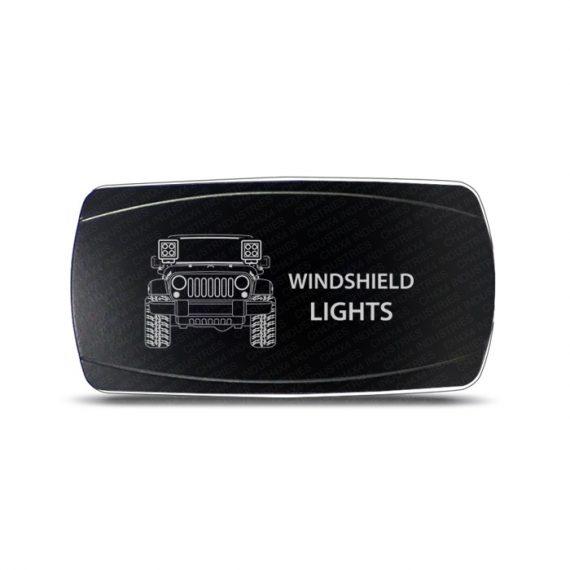 CH4x4 Rocker Switch Jeep Wrangler JK Windshield Lights Symbol - Horizontal