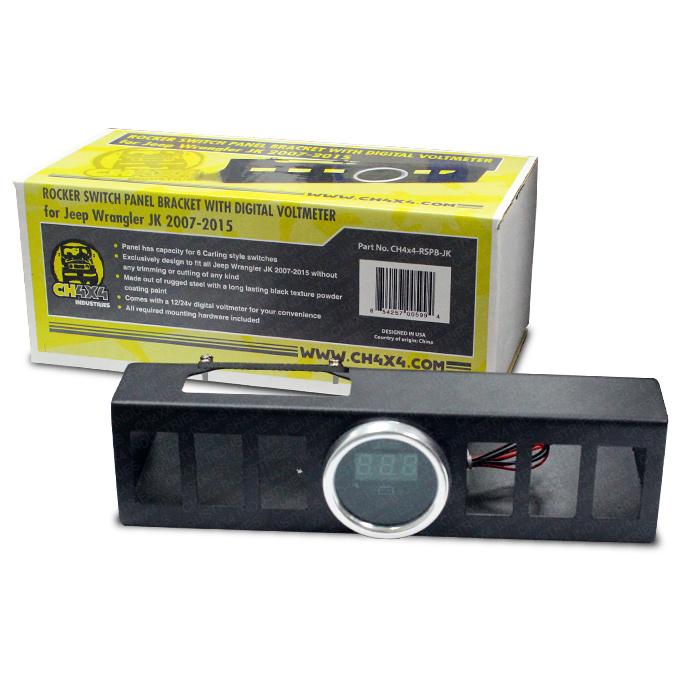 ch4x4 rocker switch panel bracket with digital voltmeter rh ch4x4 com