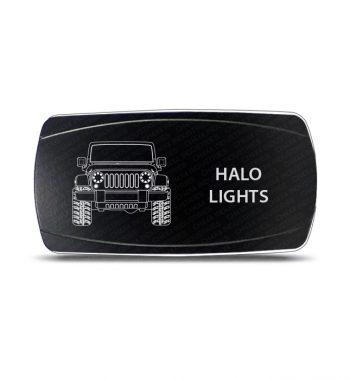 CH4x4 Rocker Switch JK Halo Lights Symbol - Horizontal