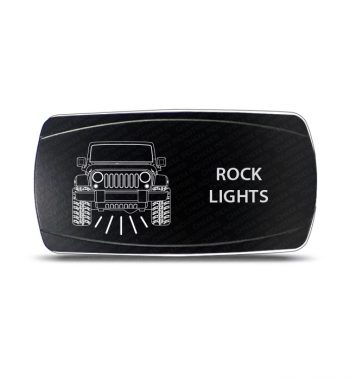 CH4x4 Rocker Switch JK Rock Lights Symbol - Horizontal