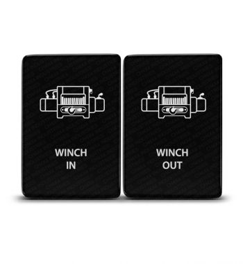 CH4x4 Toyota Momentary Small Push Switch Winch IN-OUT Symbol