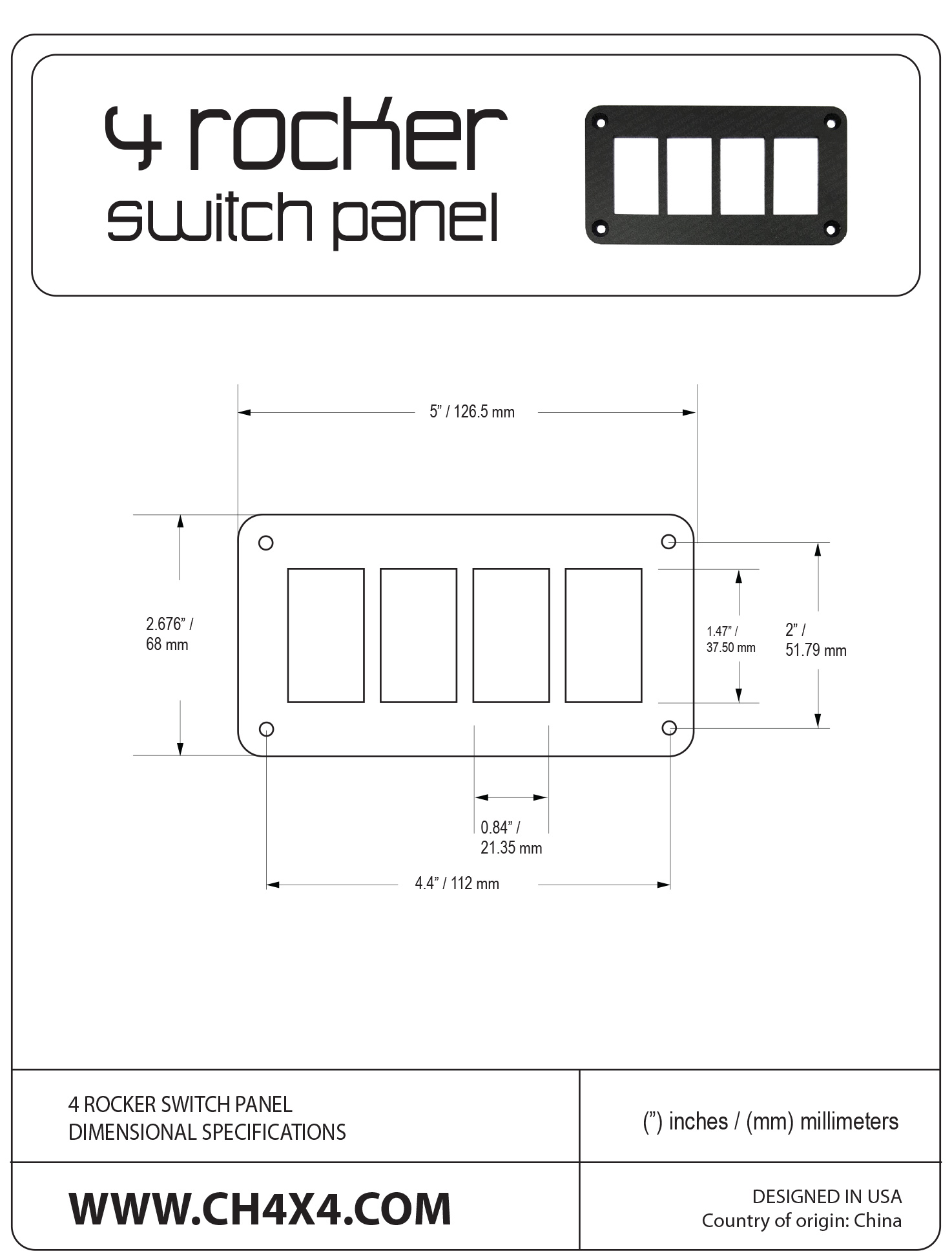 4-Rocket-Switch-Panel-Dimensional-Specifications