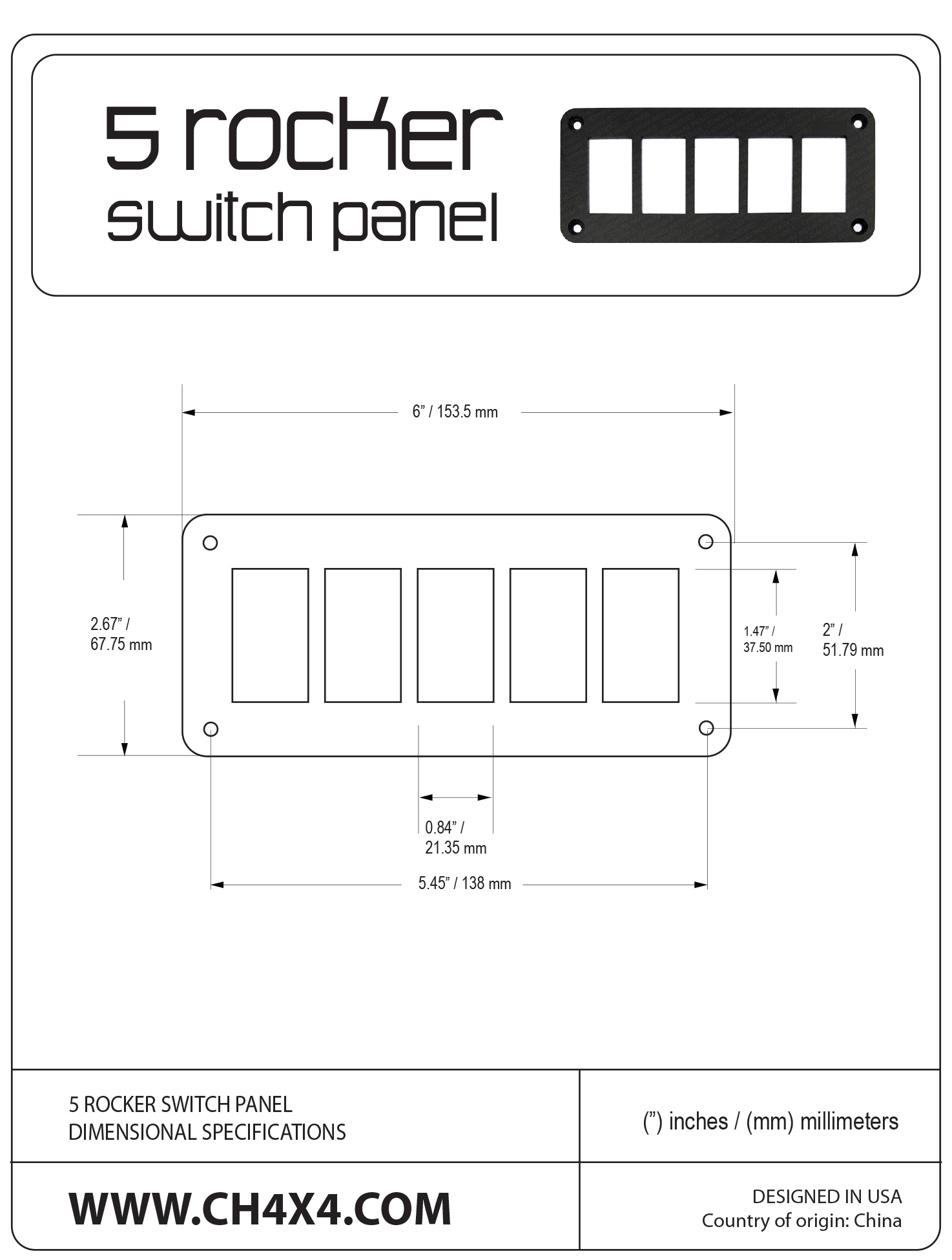 5-Rocket-Switch-Panel-Dimensional-Specifications