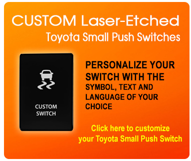 CH4x4 Industries - Toyota Push Small Switches Custom Switches