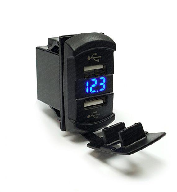 CH4x4 USB & Voltmeter Power Socket Rocker Style