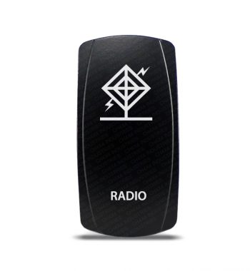 CH4X4 Marine Rocker Switch Radio Symbol