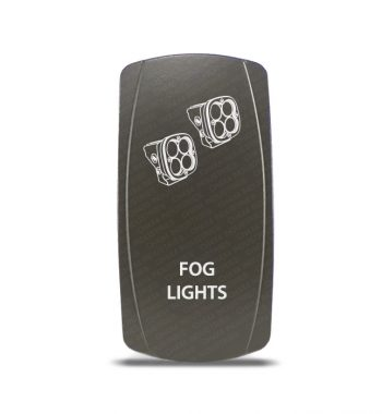 CH4x4 Gray Series Rocker Switch Fog Lights Symbol 2