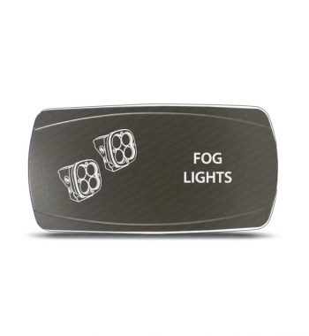 CH4x4 Gray Series Rocker Switch Fog Lights Symbol 2 - Horizontal