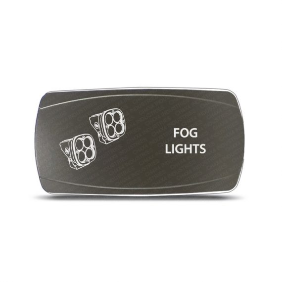 CH4x4 Gray Series Rocker Switch Fog Lights Symbol 2 - Horizontal