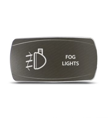 CH4x4 Gray Series Rocker Switch Fog Lights Symbol - Horizontal