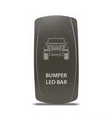 CH4x4 Gray Series Rocker Jeep JK Bumper LED Bar Symbol