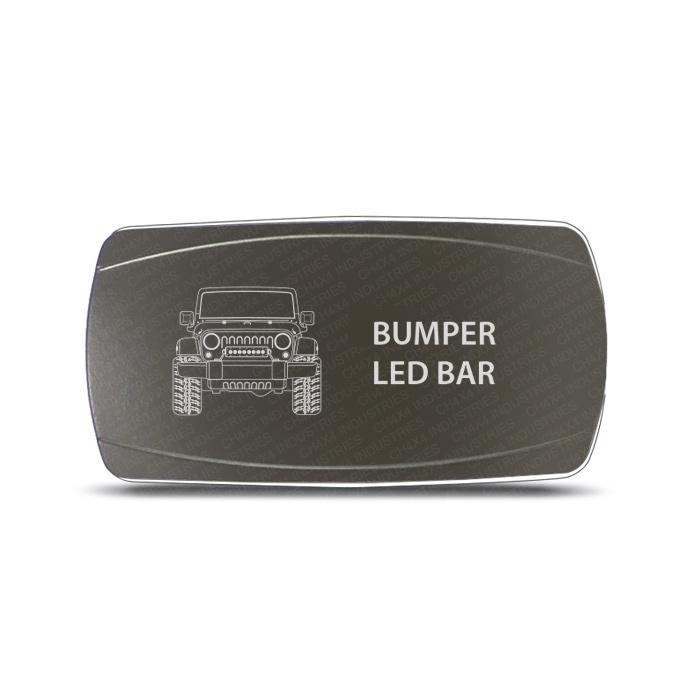 CH4x4 Gray Series Rocker Jeep JK Bumper LED Bar Symbol - Horizontal