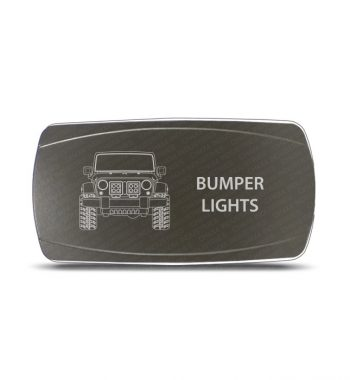 CH4x4 Gray Series Rocker Jeep JK Bumper Lights Symbol - Horizontal