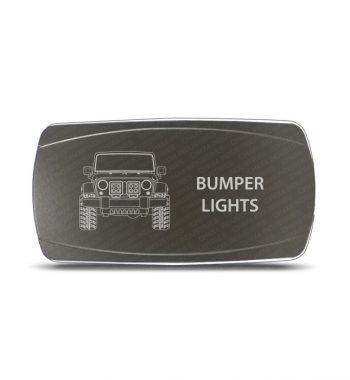 CH4x4 Gray Series Rocker Jeep JK Bumper Lights Symbol - Horizontal