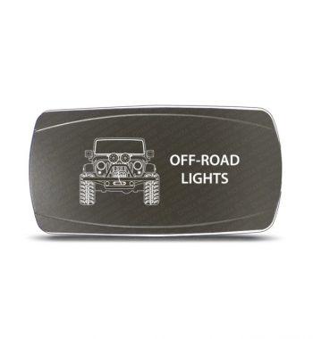 CH4x4 Gray Series Rocker Jeep JK Off-Road Lights Symbol - Horizontal