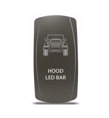 CH4x4 Gray Series Rocker Jeep JK Hood LED Bar Symbol