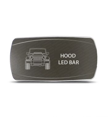 CH4x4 Gray Series Rocker Jeep JK Hood LED Bar Symbol - Horizontal