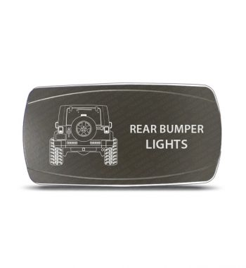 CH4x4 Gray Series Rocker Jeep JK Rear Bumper Lights Symbol - Horizontal
