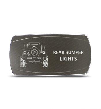 CH4x4 Gray Series Rocker Jeep JK Rear Bumper Lights Symbol - Horizontal