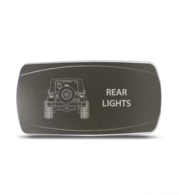 CH4x4 Gray Series Rocker Jeep JK Rear Lights Symbol - Horizontal