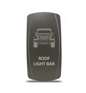 CH4x4 Gray Series Rocker Jeep JK Roof Light Bar Symbol