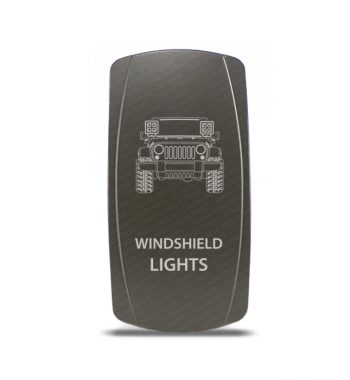 CH4x4 Gray Series Rocker Jeep JK Windshield Lights Symbol