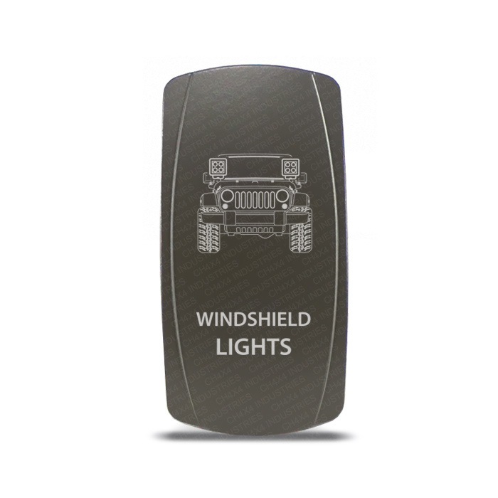CH4x4 Gray Series Rocker Jeep JK Windshield Lights Symbol