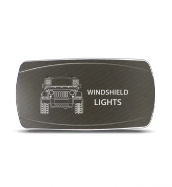 CH4x4 Gray Series Rocker Jeep JK Windshield Lights Symbol - Horizontal