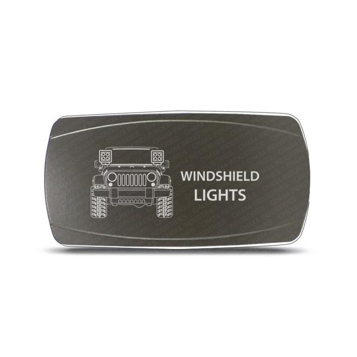 CH4x4 Gray Series Rocker Jeep JK Windshield Lights Symbol - Horizontal