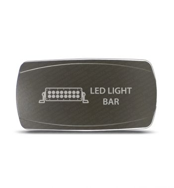 CH4x4 Gray Series Rocker Switch Led Light Bar Symbol - Horizontal