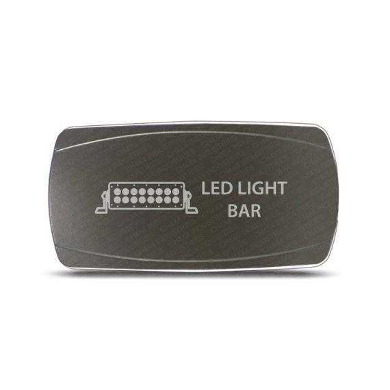 CH4x4 Gray Series Rocker Switch Led Light Bar Symbol - Horizontal