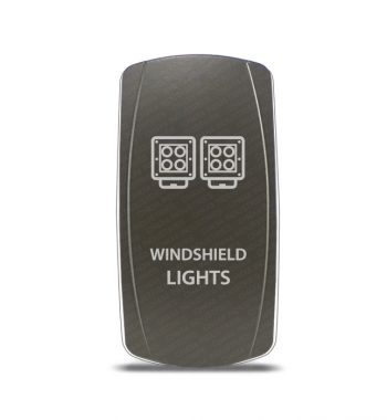 CH4x4 Gray Series Rocker Switch Windshield Lights Symbol