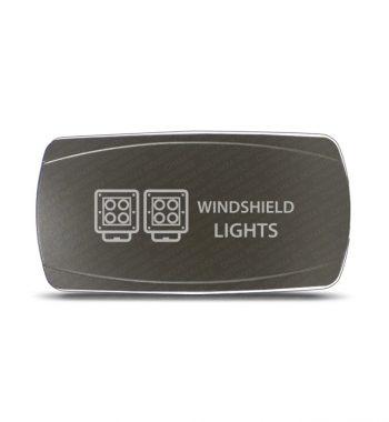 CH4x4 Gray Series Rocker Switch Windshield Lights Symbol - Horizontal