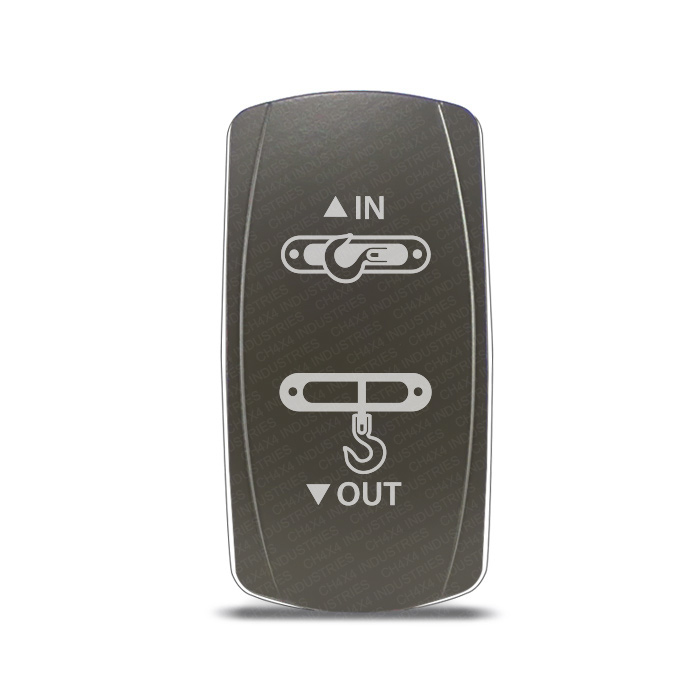 CH4x4 Gray Series Rocker Switch Winch IN-OUT Symbol