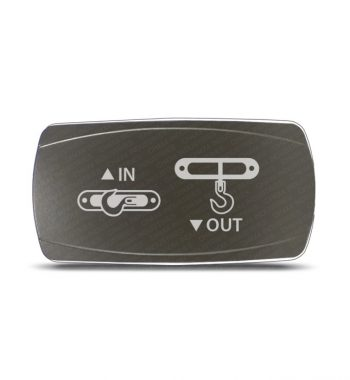 CH4x4 Gray Series Rocker Switch Winch IN-OUT Symbol - Horizontal