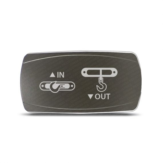 CH4x4 Gray Series Momentary Rocker Switch Winch IN-OUT Symbol - Horizontal