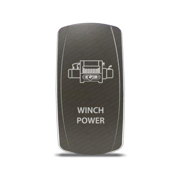 CH4x4 Gray Series Rocker Switch Winch Power Symbol