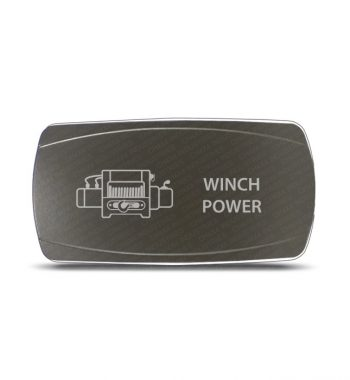 CH4x4 Gray Series Rocker Switch Winch Power Symbol - Horizontal