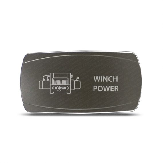 CH4x4 Gray Series Rocker Switch Winch Power Symbol - Horizontal