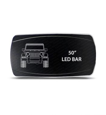 "CH4x4 Rocker Switch Jeep Wrangler JK 50"" LED Bar Symbol - Horizontal"