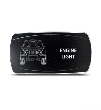CH4x4 Rocker Switch Jeep Wrangler JK Engine Light Symbol - Horizontal